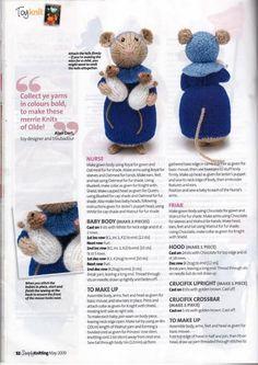 Simply Knitting - May 2009 - Laura C - Picasa Webalbums pg from album Simply Knitting May 2009 on Yandex.Tails of Yore - Alan Dart Knitted Dolls Free, Knitted Doll Patterns, Animal Knitting Patterns, Crochet Dolls, Loom Knitting, Knitting Stitches, Baby Knitting, Knitting Toys, Simply Knitting