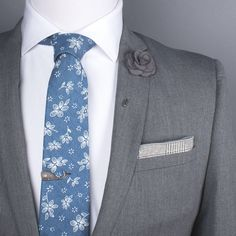 Chambray Floral Tie (Brooklyn)