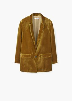 Collection featuring MANGO Blazers, Philosophy di Lorenzo Serafini Cocktail Dresses, and 84 other items Casual Blazer Women, Blazers For Women, Casual Outfits, Velvet Blazer, Velvet Jacket, Brown Jacket, Look Casual, Casual Clothes, Clothes
