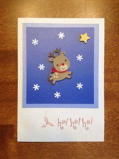 Handmade Christmas card, Cricut reindeer