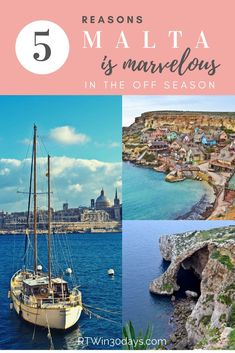 Malta is a terrific place to visit any time of year. But here are five reasons why the winter off-season just might be the best time to plan your trip. Here's everything you need to know to decide which islands to visit, where to stay and what to see on Malta's three main islands.  #malta #travel #winter #comino #gozo