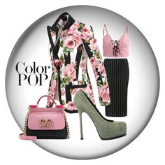 """""""Rosey"""" by debep ❤ liked on Polyvore featuring Glamorous, Dolce&Gabbana, Yves Saint Laurent and statementcoats"""