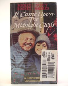 1988 VHS It Came Upon A Midnight Clear Christmas Movie Film Video Mickey Rooney Annie Potts Family Children Drama Made for TV Rare NTSC #35E by AdriennesAtticStore on Etsy