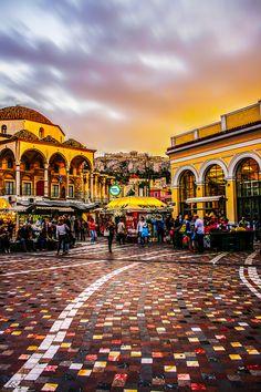 Monastiraki, Athens, Greece These colors are breathtaking