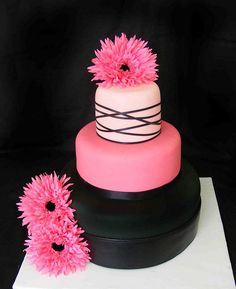 without the flowers and not pink...30th Birthday cake