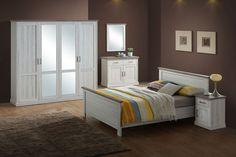 ELARTA - Gezellige slaapkamercollectie in een lichte houten kleur. Ontdek deze collectie in onze winkel of vind meer info op de technische fiche | Meubelen Crack