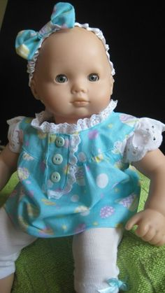 "Handmade Easter Outfit for American Girl 16""Bitty Baby Doll"