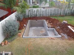 DIY Swimming Pool Conversion- don't know if we could do this safely, but it's such a cool idea! DIY Pool Conversion, mine is a natural pool.i'm at fase 8 DIY Swimming Pool (dig whole, fill with cement) Ein Fleckchen Urlaub im Garten - Bau dir deinen eigen Building A Swimming Pool, Small Backyard Pools, Natural Swimming Pools, Diy Pool, Small Pools, Swimming Pools Backyard, Swimming Pool Designs, Natural Pools, Backyard Ideas
