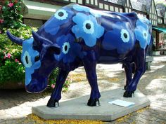 Cows on Parade - Unikko Blue
