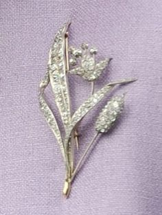 The City of London Lily Brooch   This brooch, in the form of a lily and grasses, was presented to the Queen by the City of London when she...