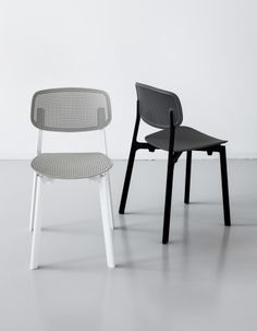 Stackable chair for indoor or outdoor use. Lacquered aluminium frame, with…