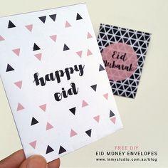 FREE Eid Money Envelopes. PRINTABLE Eid Mubarak. Bayram. Happy Eid