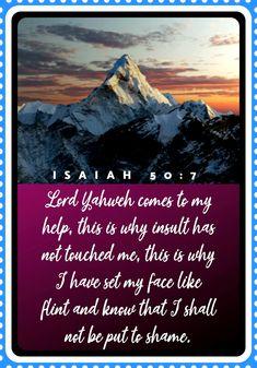 Isaiah 50:7 Book Of Isaiah, Lord, Face, Nature, Books, Travel, Naturaleza, Libros, Viajes