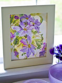 Artwork idea - adding pastels to enhance a painting or picture. Originally from: http://www.holidaywithmatthewmead.com/