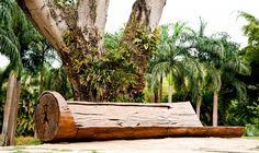 Esculturas naturais | Banco do Brasil Tree Furniture, Outdoor Furniture, Outdoor Decor, Natural, Firewood, Texture, Design, Crafts, Home Decor