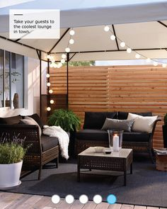 balcony privacy screens #IKEAWarmWeatherLivingGuide