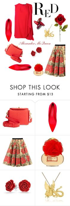 """Alexander McQueen N RED"" by babygirltrice ❤ liked on Polyvore featuring Alexander McQueen, Bling Jewelry and Ross-Simons"