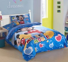 Blue Mickey Mouse Bedding [DNI023]