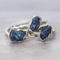 BACK IN STOCK Raw Sapphire Ring www.indieandharper.com