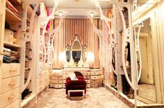 I am seeing this closet, but with the wood detail in brown like tree branches. My closet looks like a jungle anyway...
