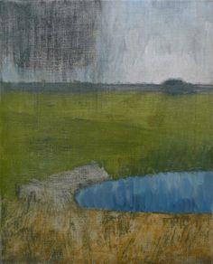"""Mykolé, """"Day"""", 2012, 41 x 33 cm Oil, canvas. Contemporary landscape paintings."""