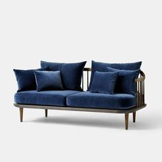 Fly Sofa - SC2  - 2 Seater - Blue - Monologue London - 1