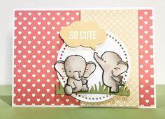 MFT / My Favorite Things Adorable Elephants - www.clairmatthews.com