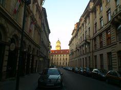 Praha 3, Bořivojova ulice, pohled na kostel sv. Prokopa