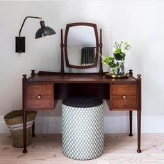 """295 Likes, 2 Comments - ALLIED MAKER (@alliedmaker) on Instagram: """"Crescent Wall Lamp over a dressing table in this beautiful composition by @studioashby"""""""