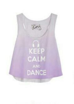Keep calm violet dance tank (cute for dance class or even for the beach) from dELIAS