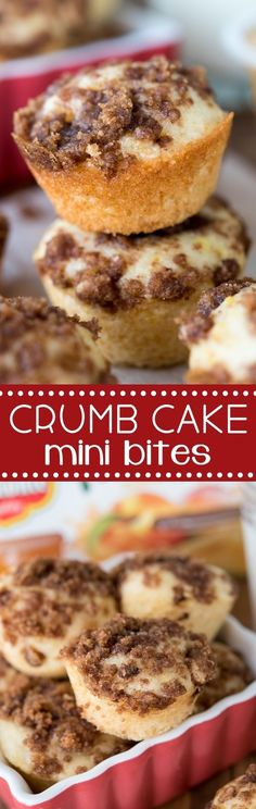 Your kids will LOVE these Little Crumb Cake Bites! This homemade crumb cake recipe is easy, fast, and better than store bought!