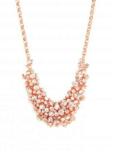 Wowed Rose gold n diamond cluster necklace
