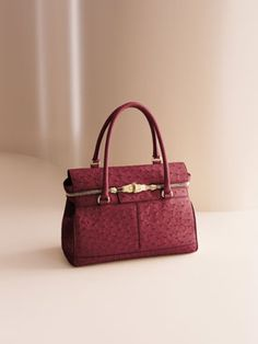 limited-edition Max Mara Margaux Bag in red ostrich...Oh yeah it's gorgeous!!