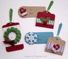 Winter Wishes Stitched Felt accents paired with the Two Tags Bigz Die   These fun and cozy felt accents are the perfect adornments for your holiday projects.
