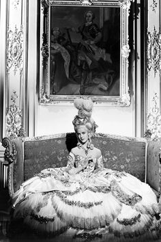 """Anita Louise as Marie Antoinette in """"Madame Du Barry"""" She later played the Princesse de Lamballe in """"Marie Antoinette"""" Costume design by Orry-Kelly Madame Du Barry, Marie Antoinette Film, Orry Kelly, Norma Shearer, Princess Aesthetic, Game Of Thrones, Beautiful Costumes, Beautiful Gowns, Marquise"""