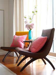 Apartment Decor Tip: If you entertain frequently, opt for furniture that can be moved easily. Lightweight chairs can be moved closer to a sofa for intimate gatherings or pushed to the edges of a room to accommodate a crowd.