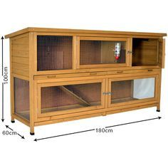 The Coach House 6ft Large Rabbit Hutch - Outdoor Rabbit Hutches  £159