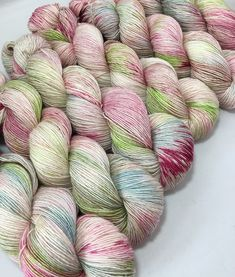 Silk Garden - Hand-dyed 4ply Pip Merino & Silk Yarn by YanTanTetheraYarns on Etsy