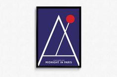 Woody Allen MIDNIGHT in PARIS movie poster