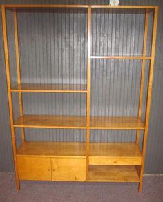 mid century modern paul mccobb maple room divider bookcase wall unit circa