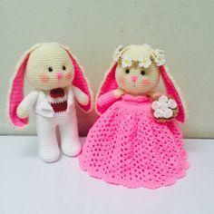 Good night from Thailand #amigurumi #bunny #rabbit #wedding #craft #cute #pink #love #dolls #crochet #crocheted #crochettaddict #handmade #handcraft #yarn #wool #happy #kawaii #adorable