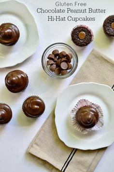 Chocolate Peanut Butter Hi-Hat Cupcakes {Gluten Free} | Kitchen Tested