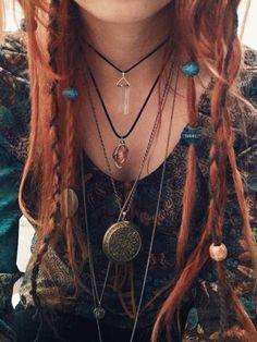 hippie boho red head red hair my face bohemian crystal my photography hippy indian dreads myphotography myface dreadlocks gypsy boho hair boho fashion beads pendant locket boho jewelry red hair dye dread beads boholife Hippie Boho, Looks Hippie, Hippie Hair, Bohemian, Boho Mode, Mode Hippie, Celtic Hair, Viking Hair, Celtic Dreadlocks