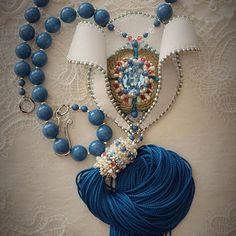@inga.marita Beaded pendant. Handmade bijou. Beads