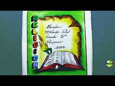 CARATULAS PARA CUADERNOS DE RELIGION - YouTube Colores Faber Castell, Border Design, Projects, Google, Angeles, Mary, Youtube, Anime, Notebook Paper
