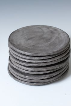 Charcoal Stoneware Side plates Small Plates 5 by VitreousWares