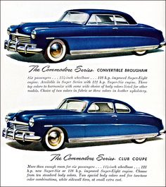 1948 Hudson Commodore Convertible Brougham and Club Coupe