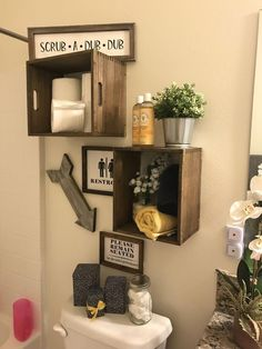 """Awesome """"laundry room storage diy shelves"""" info is available on our site. Take a look and you wont be sorry you did. Wood Crate Shelves, Wood Crates, Industrial Shelves, Pipe Shelves, Industrial Pipe, Pallet Wood, Bathroom Storage Shelves, Diy Storage, Storage Ideas"""