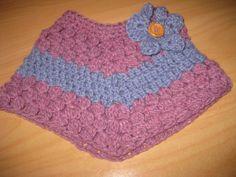 crochet infant poncho   PDF PATTERN ONLY Baby/Toddler Crochet Cluster Poncho