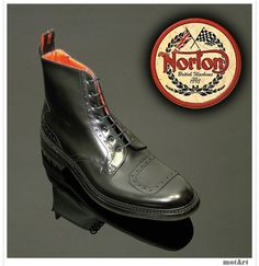 Norton Leather rider boots